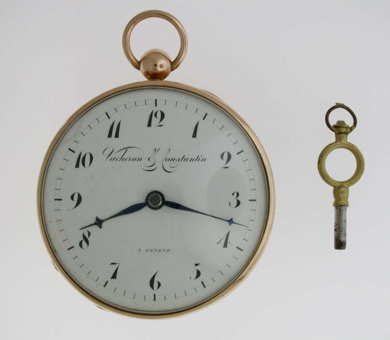 18 Kt Rose Gold Vacheron & Constantin Pocket Watch Swiss 1810