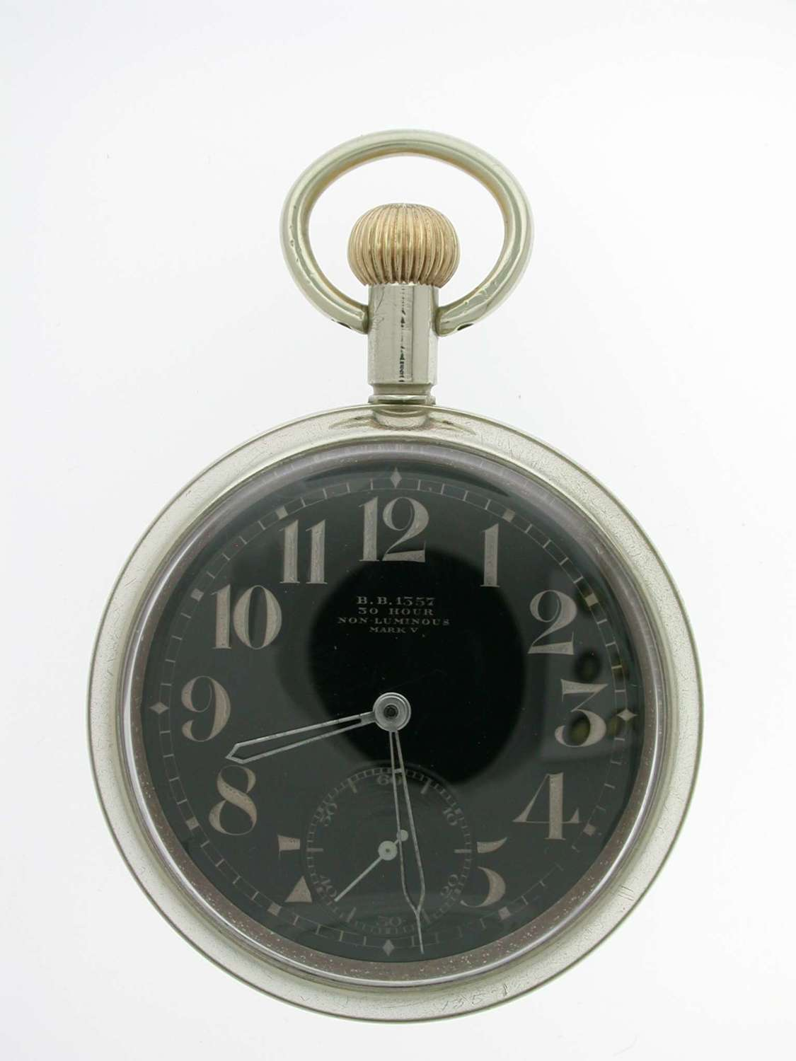 Omega Military Steel Original Men's Pocket Watch 1942 Airforce