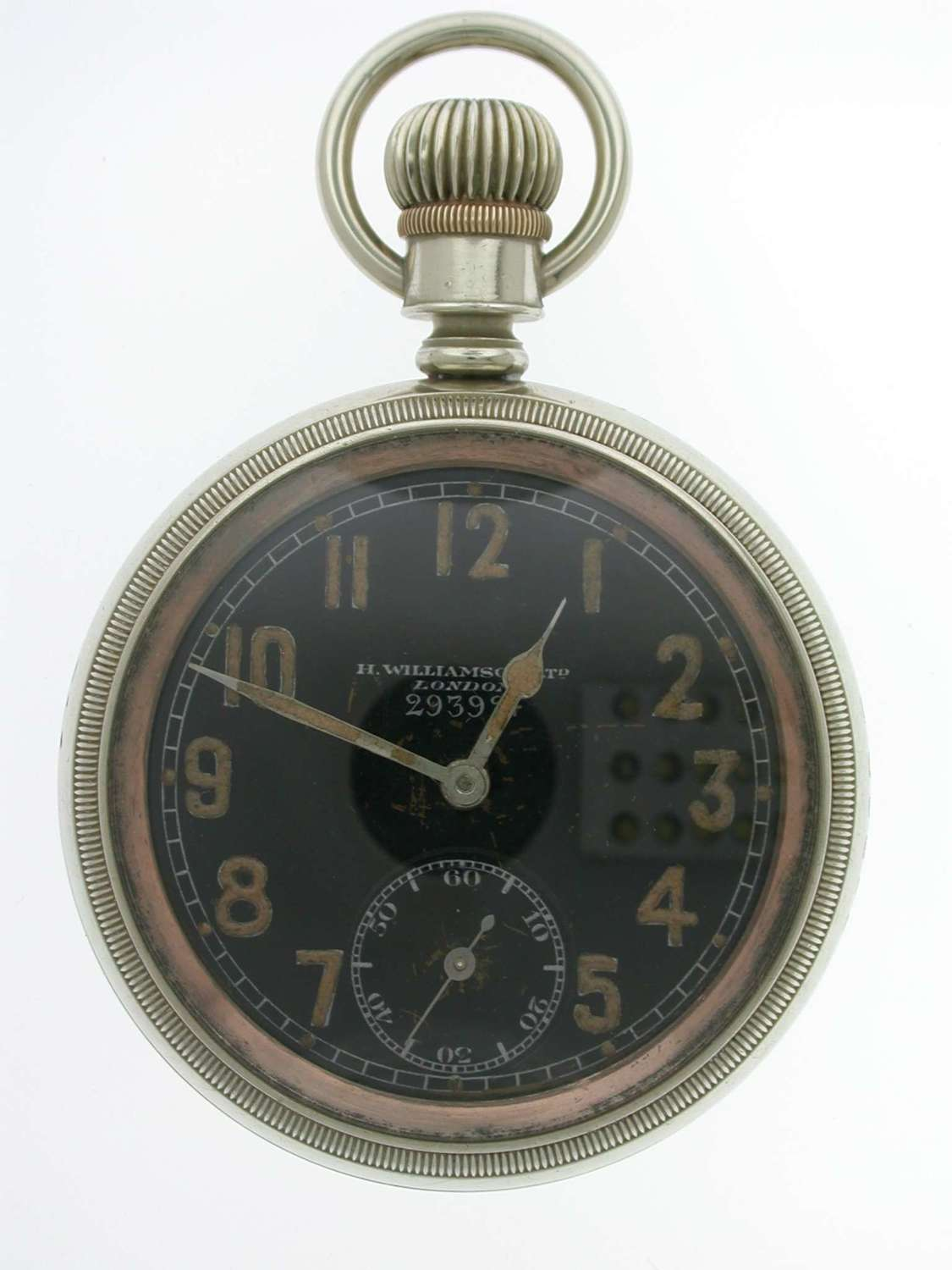Rare Williamson Military / Airforce Pocket Watch  England 1914
