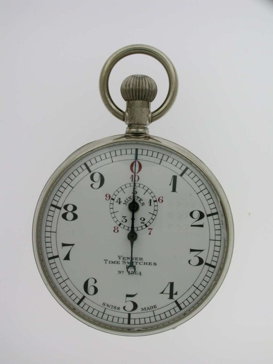 Venner Time Switches Stop Watch Steel Pocket Watch Swiss 1920