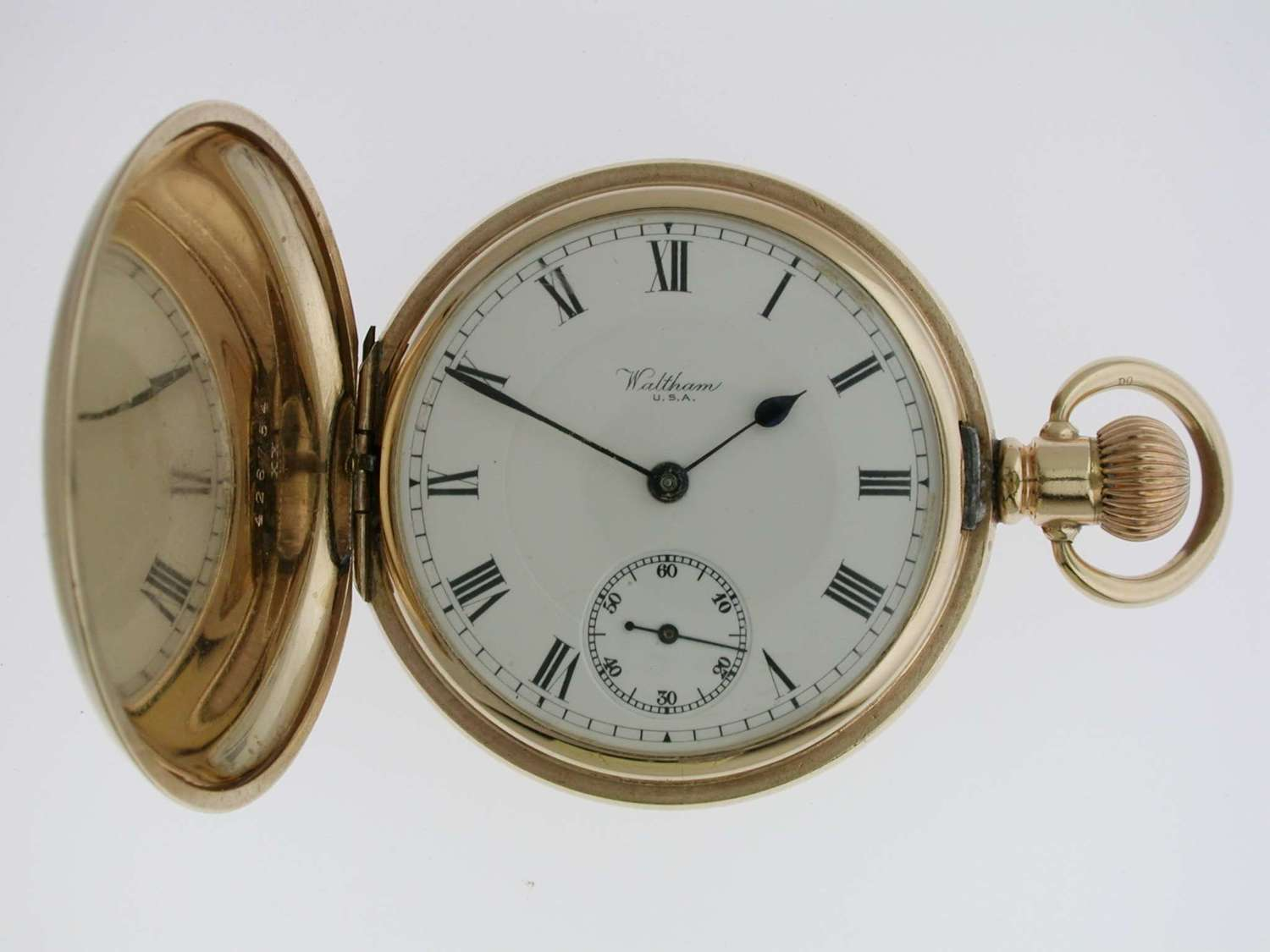 Waltham Gold Filled Full Hunter Pocket Watch  USA 1920