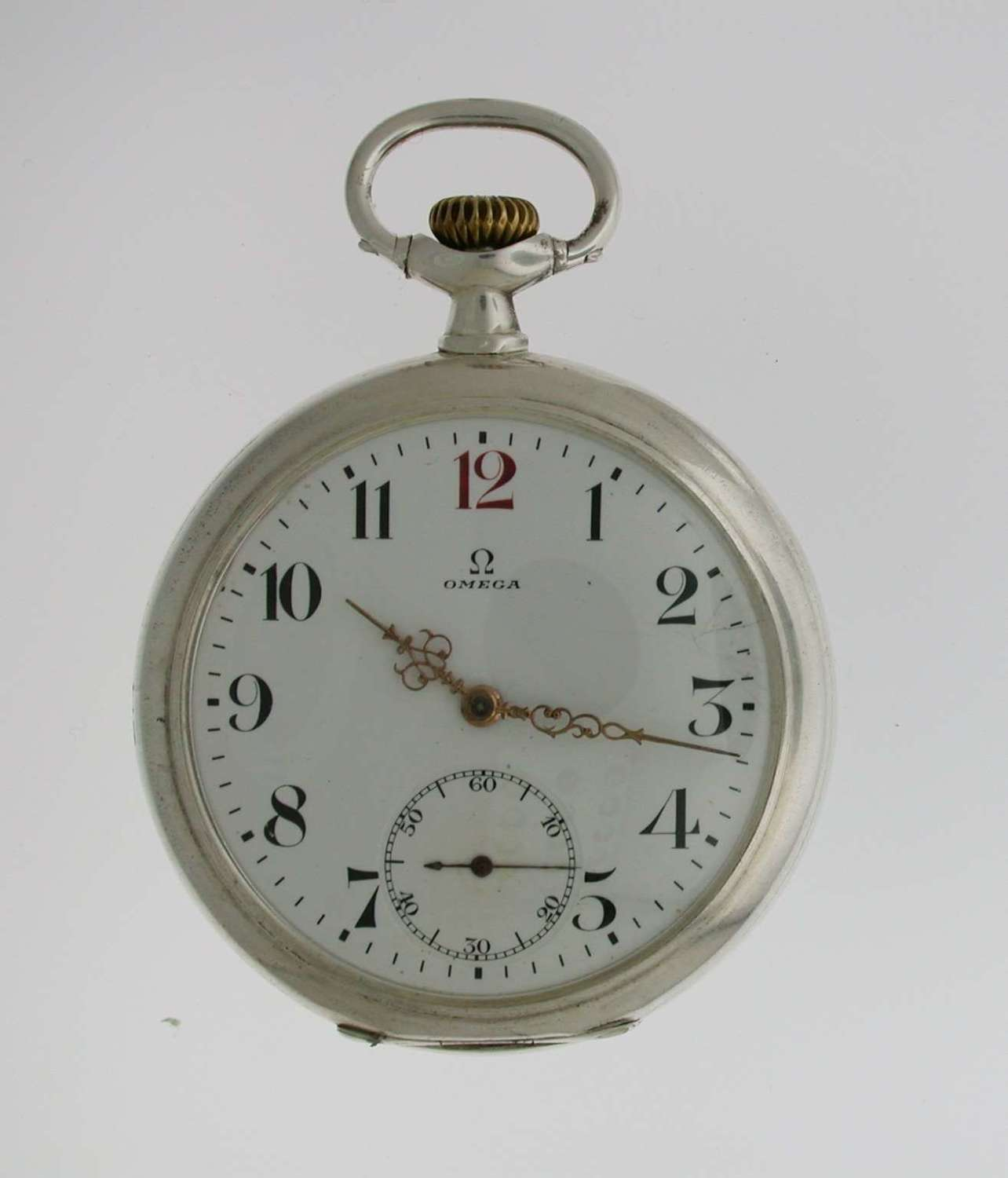 Omega Silver 0.800 Pocket Watch Swiss 1918
