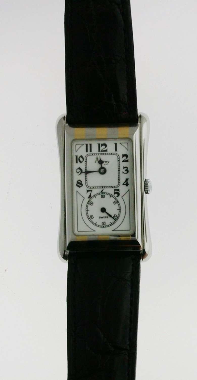 Asprey Men's Wristwatch in Original 2 Asprey Boxes Swiss Made
