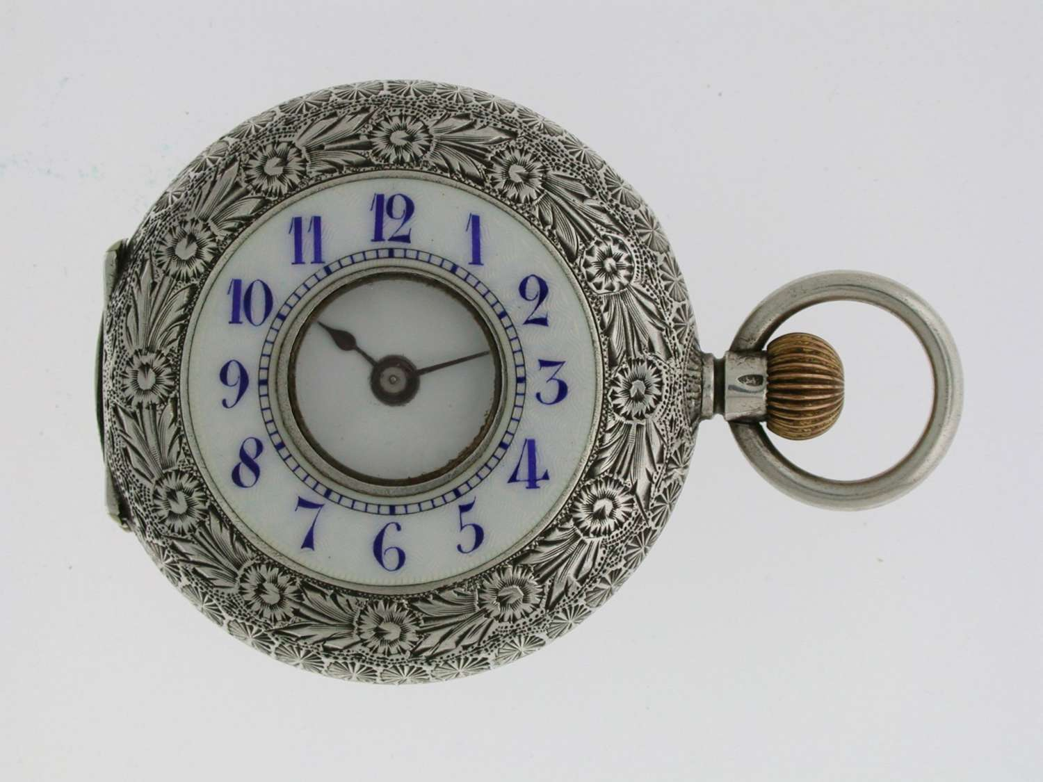 SILVER WALTMAN Swiss HALF HUNTER  POCKET WATCH 1900