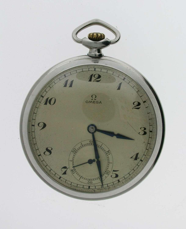 Omega Art Deco Staybrite Open Face  Pocket Watch Swiss 1925