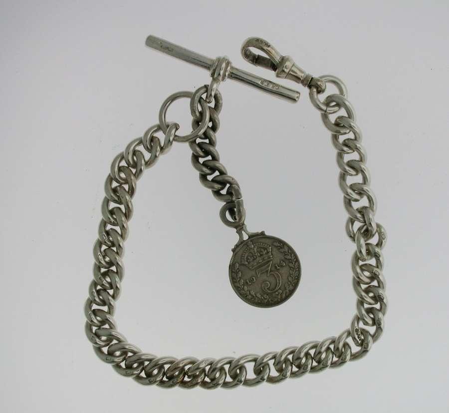 Silver Pocket Watch Chain (65)