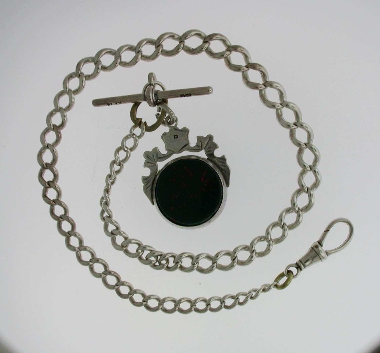 Silver Pocket Watch Chain (67)