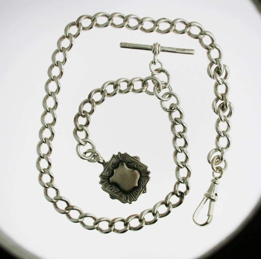Silver Pocket Watch Chain (69)