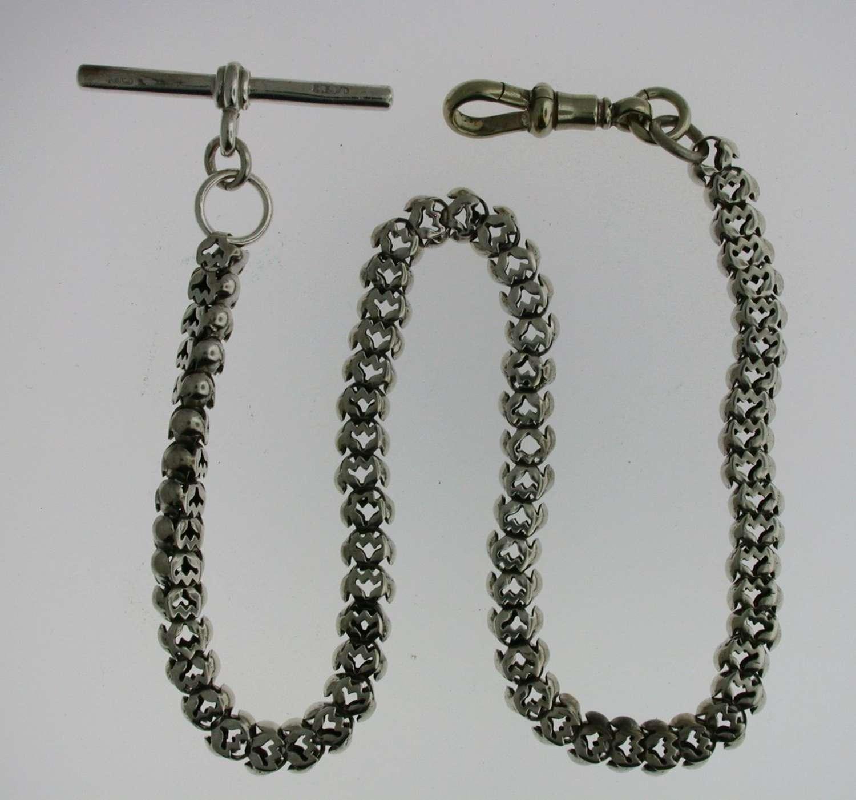 Silver Pocket Watch Chain (72)