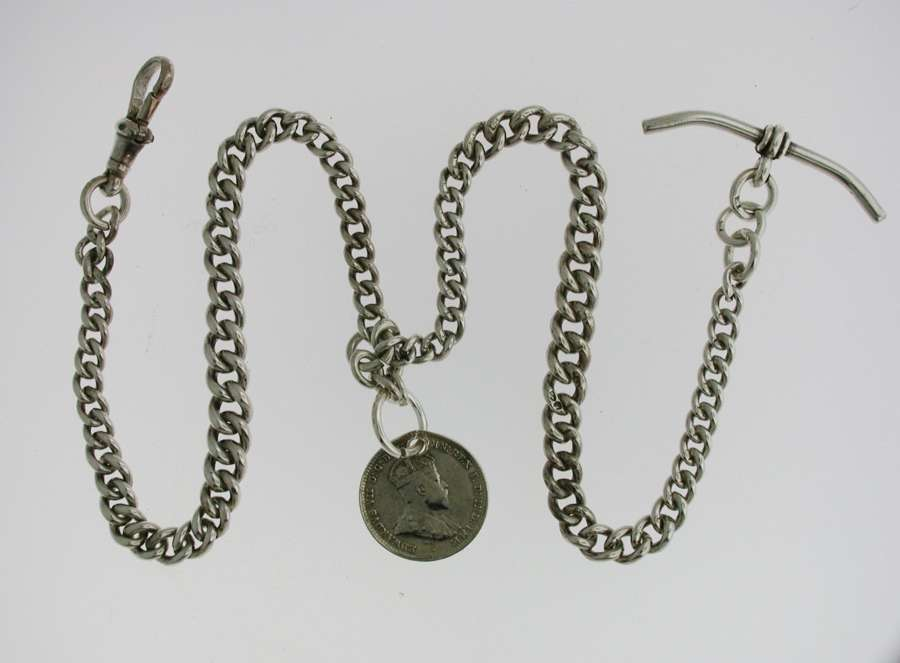 Silver Pocket Watch Chain (73)