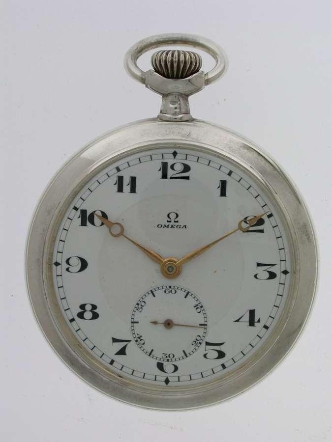 OMEGA Silver 0.800 Gent's Pocket Watch  Swiss 1916