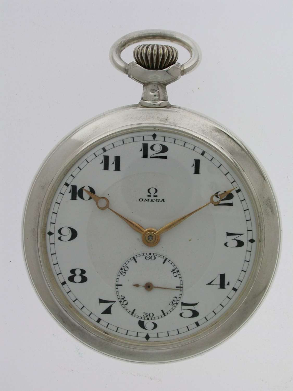 OMEGA Silver 0.800 Gent's Pocket Watch  Swiss 1916