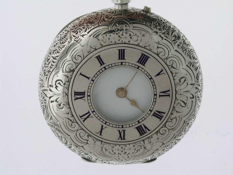 Silver Half Hunter Pocket Watch Birmingham 1883.