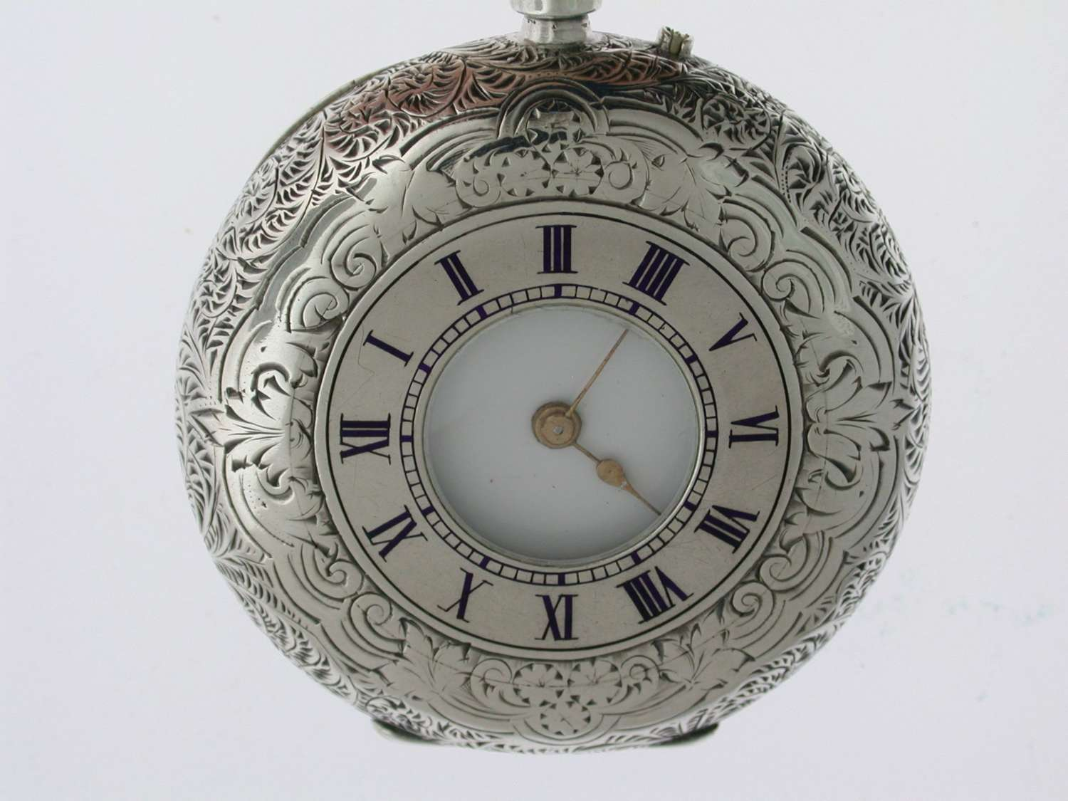 Silver Half Hunter Pocket Watch Birmingham 1883.