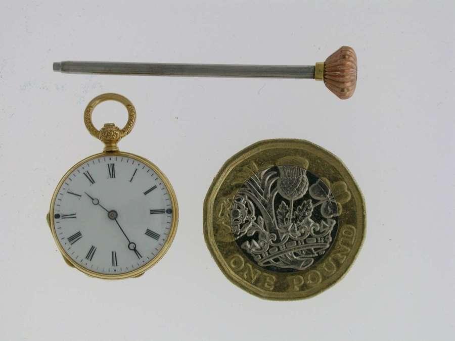 Mint 18 Kt Yellow Gold Smallest Pocket Watch Swiss 1860