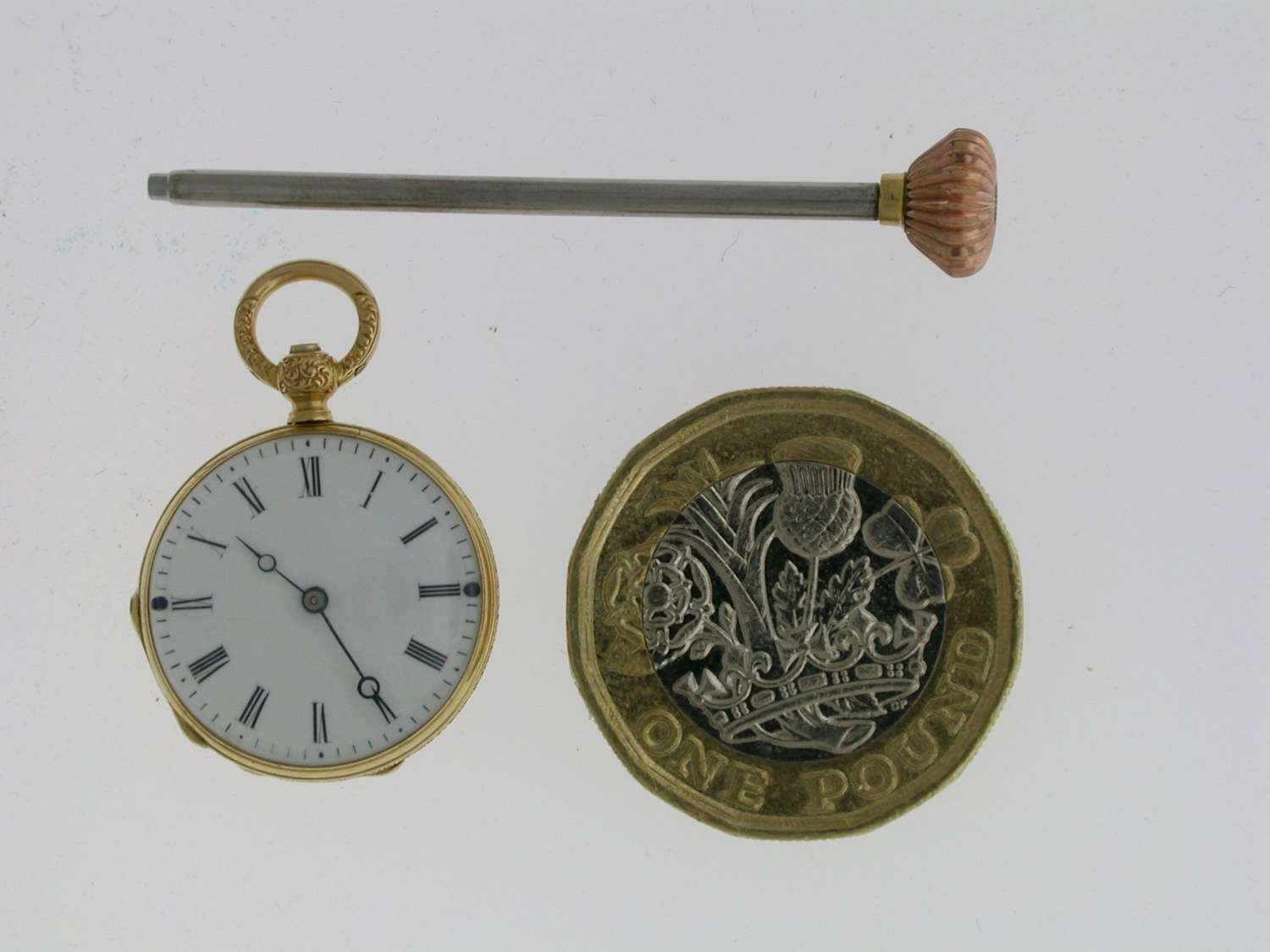 Mint 18 Kt Yellow Gold Smallest Pocket Watch Swiss 1860