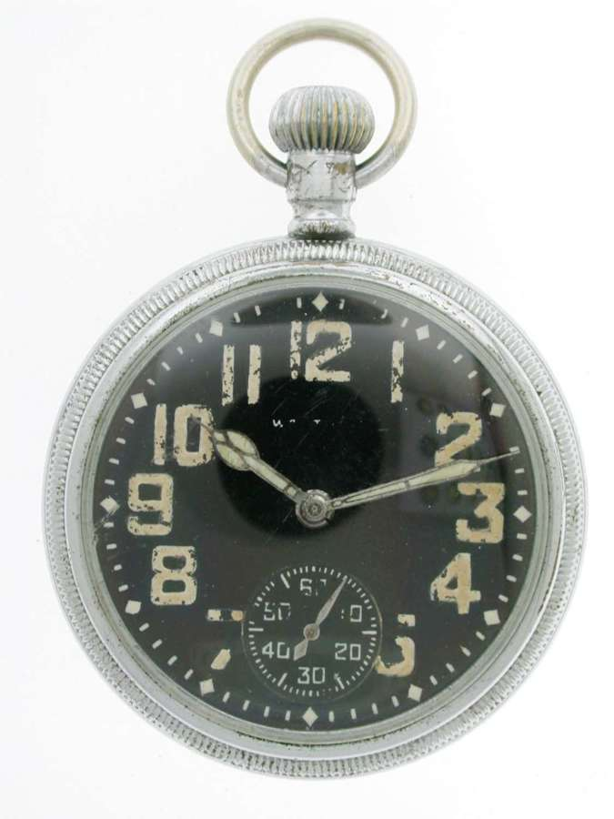 WALTHAM Military Open Face Pocket Watch Swiss 1942