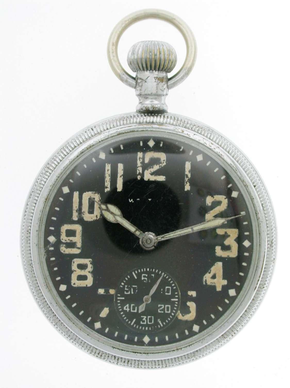 WALTHAM Military Open Face Pocket Watch Swiss 1942