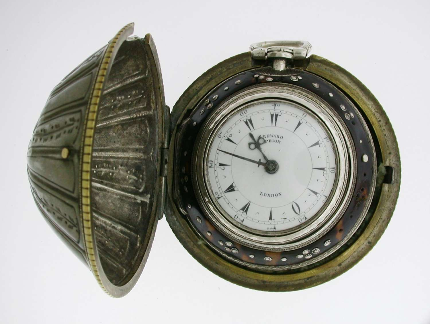 Edward Prior - Silver Verge Pocket Watch in  Triple Protective Case