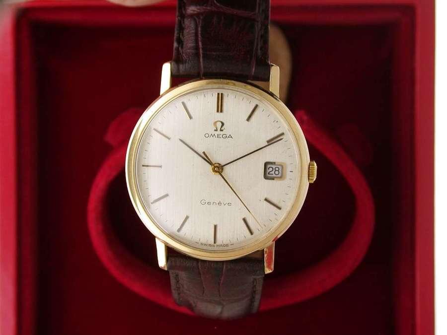 Omega 9Kt Yellow Gold Wristwatch Swiss 1970 Hallmark Import London1973